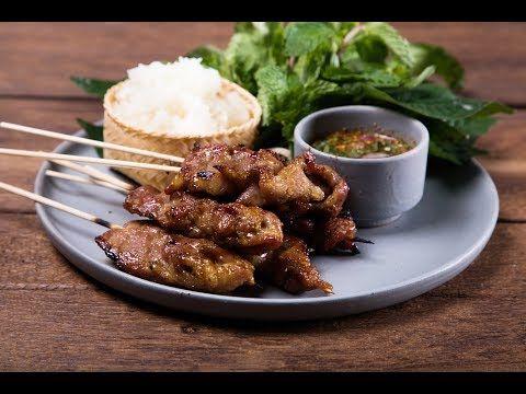 ข าวเหน ยวหม ป ง Thai Styled Bbq Pork With Sticky Rice พลพรรคน กปร ง Youtube อาหาร การทำอาหาร ซอสหอยนางรม