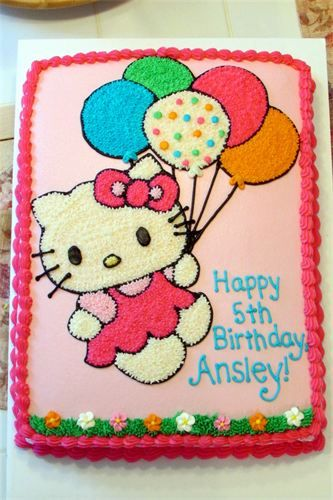 Hello Kitty Sheet Cake Images : Pix For > Hello Kitty Square Cake hello kitty cake ...