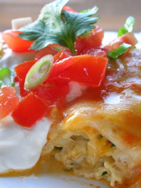 Chicken Enchiladas {with red sauce}.