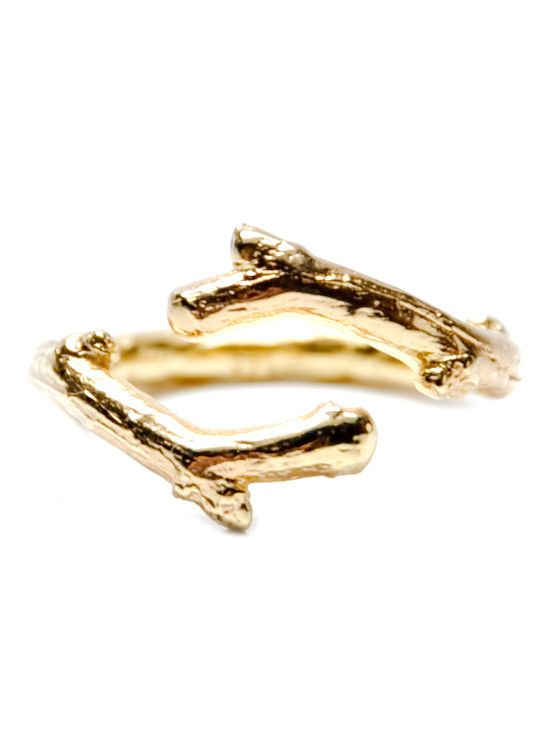 Twig Ring in Gold Vermeil — lovely! I would like this in white gold or silver please