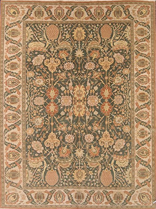 Rug Source One Of A Kind New Ziegler All Over Hand Made 11x13 Green Wool Oriental Area Rug 13 2 X 10 8 Area Rugs Oriental Area Rugs Rugs