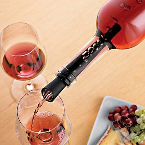 Nuance Wine Finer Aerator. Danish designers combine an aerator, filter, non-spill pourer, and stopper into one do-it-all instrument the size of a fountain pen.