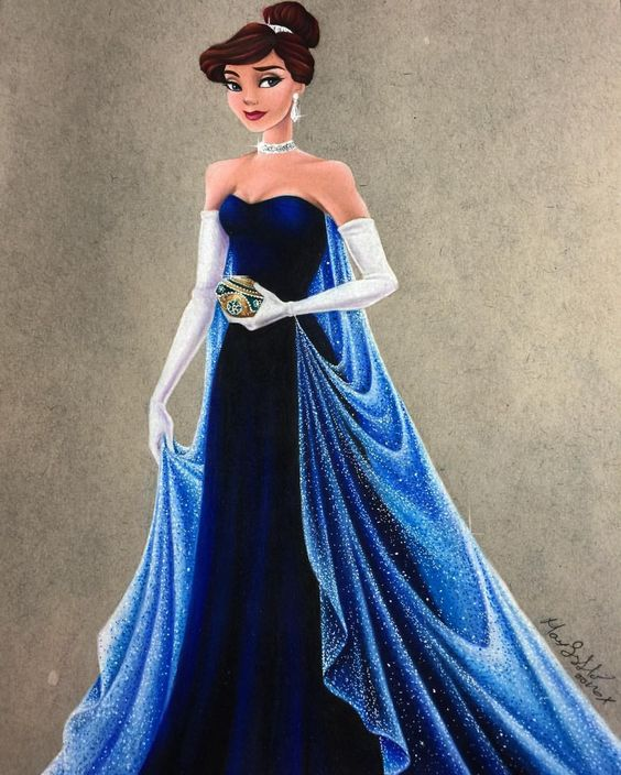 "❄️ Once upon a December ❄️ I love the simplicity of this gown, yet it's so elegant at the same time, definitely my favorite dress from this movie. I'm so happy I ended up only adding ""diamonds"" to the cape and kept the dress itself.:"