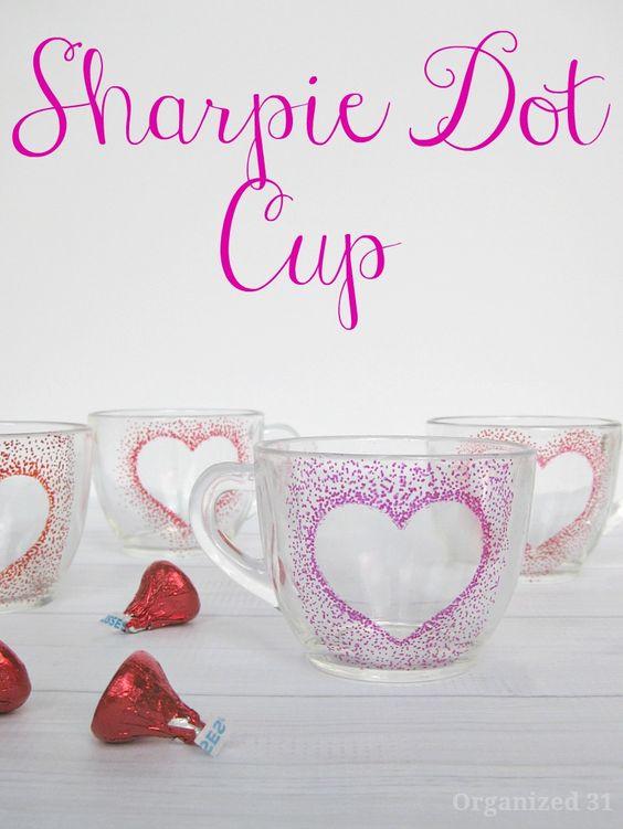 valentines themed / seasonal project / DIY mug / sharpie mug / valentine's day