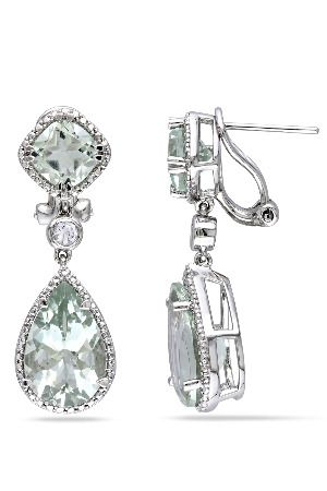 These magnificent earrings from the Miadora Collection feature pear and…