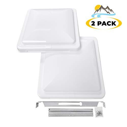 Camp N 14 Universal Rv Trailer Camper Motorhome Roof Vent Cover Vent Lid Replacement White 2 Pack For Price An Vent Covers Roof Vent Covers Roof Vents