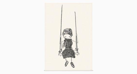 Girl on A Swing @ shop-rikiki.de