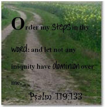 Prayer; Psalm 119:133