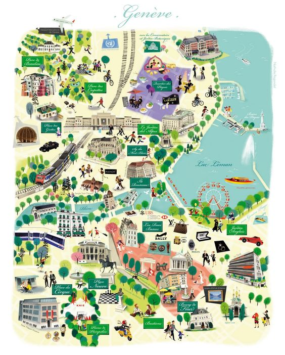 Nathalie Ragondet Map of Geneva Auf nathalieragondetblogspotco – Switzerland Travel Map