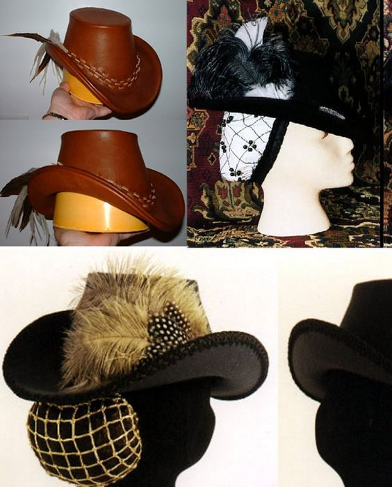 Women's Elizabethan Arched Brim Tall Hat