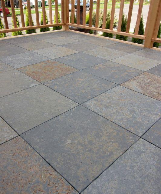 Slate Deck Tiles Slate Decking Tiles Traditional Deck Seattle