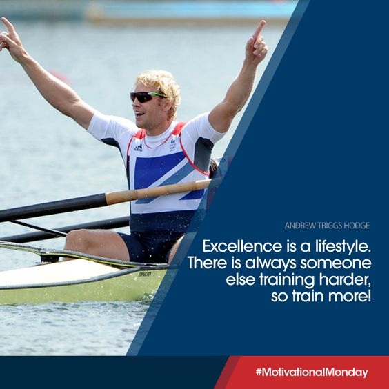 2x Olympic Champion Andrew Triggs Hodge is setting the tone this morning. How hard are you training? #MondayMotivation
