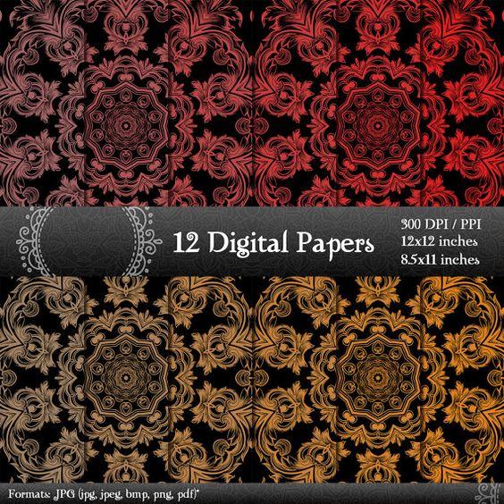 scrapbook papers scrapbook pages digital paper digital scrapbook paper pack scrapbooking digital background scrapbooking paper 12x12 8.5 in