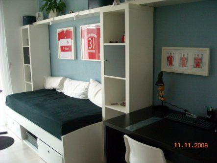 Bett berbau luke pinterest betten regale und couch for Jugendzimmer mit 2 betten