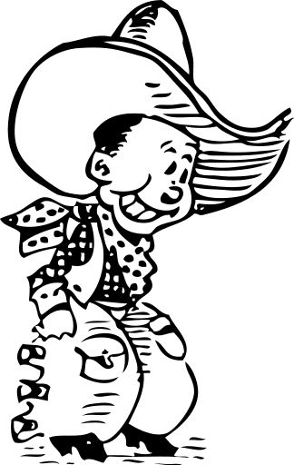 western coloring pages for kids - photo#23