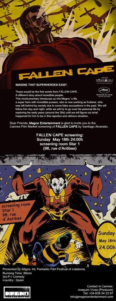 Mirad q invitación más maja para el pase de Capa Caída en el Festival de Cannes 2014 #LeMarchéDuFilm #BloodWindow #FallenCape