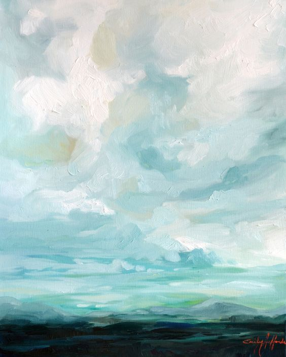 Sundown by Emily Jeffords: Oil Paintings, Color Inspiration, Artistic Bedrooms, Cloud Painting, Art Paintings, Blue Color, Landscape Paintings, Art Landscape