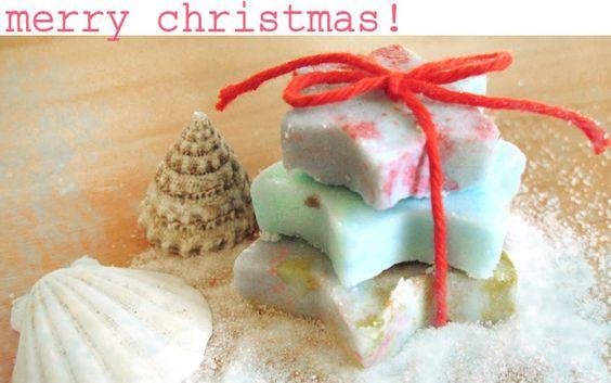 Weihnachtsgeschenk selber machen: Badepralinen in Sternform