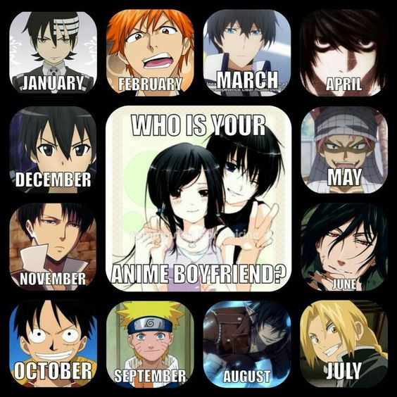 Anime Characters Born On February 9 : Who is your anime boyfriend text birthday months