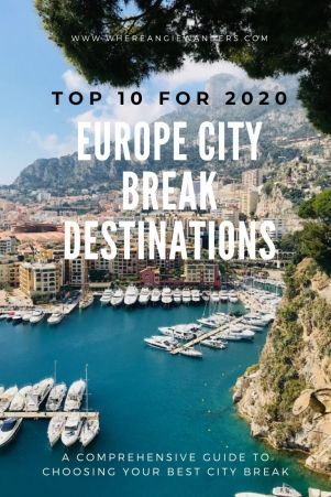 Europe City Break Destinations My Top 10 For 2020 In 2020 City Break City Breaks Europe European City Breaks