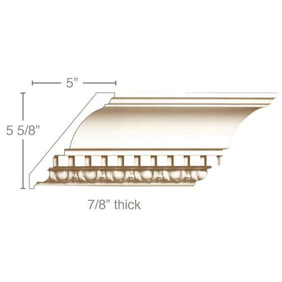 Egg And Dart With Dentil 7 1 2 W X 7 8 D In 2020 Dentil Moulding Door Header Ceiling Beams