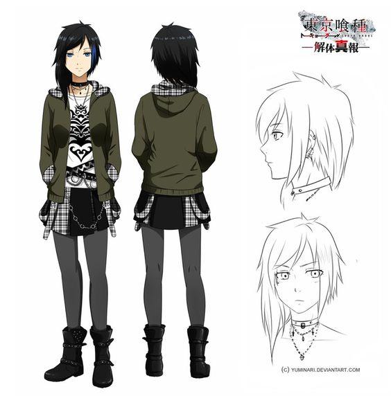 Character Design Generator Tumblr : Tokyo ghoul oc sheet arai mitsuki by yuminari