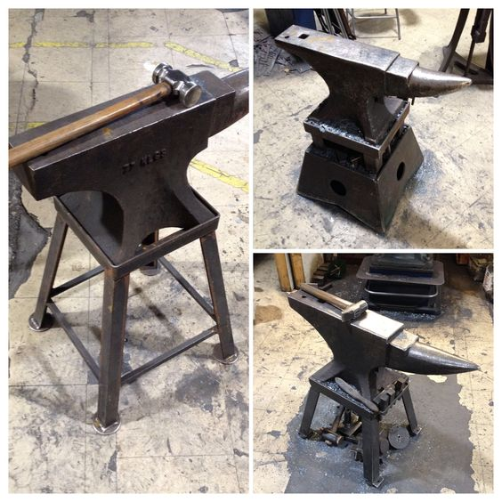 A few of our anvils on the forge floor. #nigeltyas #anvil #forge #design #blacksmith
