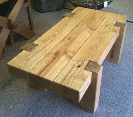 Furniture from oak railway sleepers