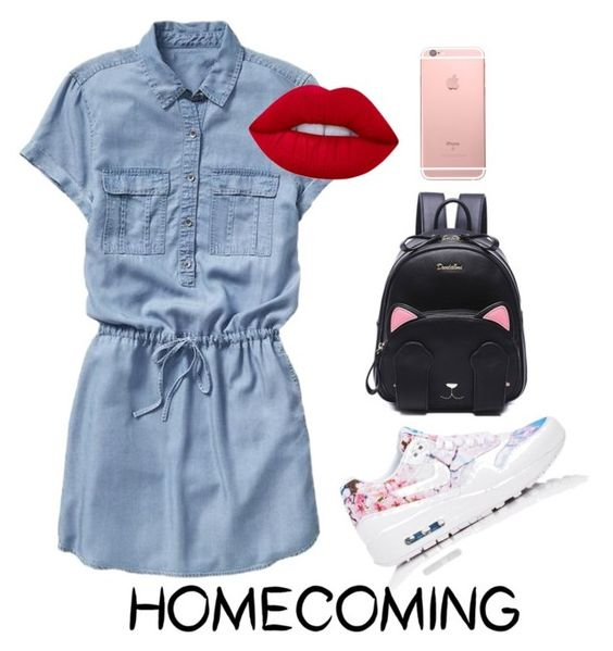 """""""Simply Homecoming"""" by pipopip ❤ liked on Polyvore featuring Gap, NIKE and Lime Crime"""
