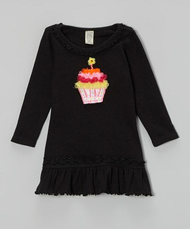 Another great find on #zulily! Black Cupcake Ruffle Tulle Dress - Infant #zulilyfinds