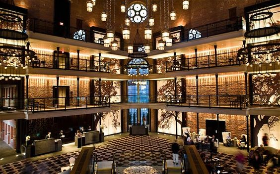 First Stop: Check in and check out the cool atmosphere at The Liberty Hotel, Boston, MA.  A former jail turned five star hotel!