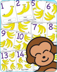 Get up and dance like a banana with this super fun counting song. Learn to count up to 20 with free flashcards and teaching ideas too!: