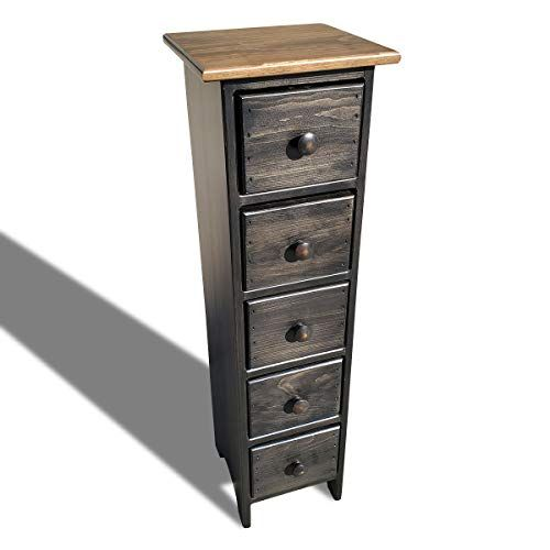 Peaceful Classics Skinny Dresser Drawers Amish Furniture Espresso