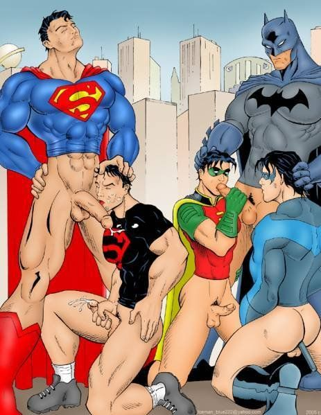 cartoons hero gangbang