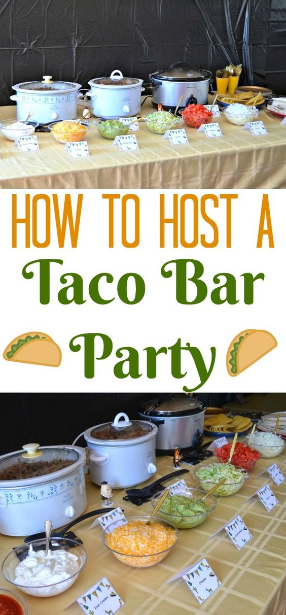 #DIY Taco Bar Party - Table Tents Free Printables | Building Our Story