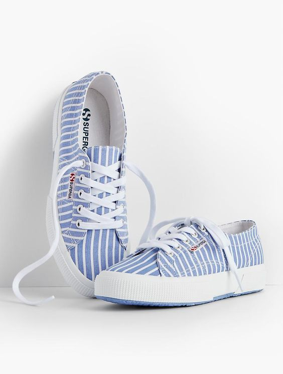 Superga® Sneakers-Stripes - Talbots: