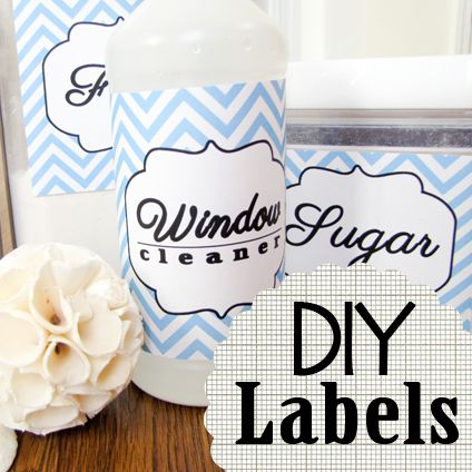 Chevron Pantry Label Printables from New Fashioned Mom