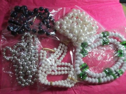 Lot of Plastic Lucite Beaded Necklaces Collection of 5 | eBay