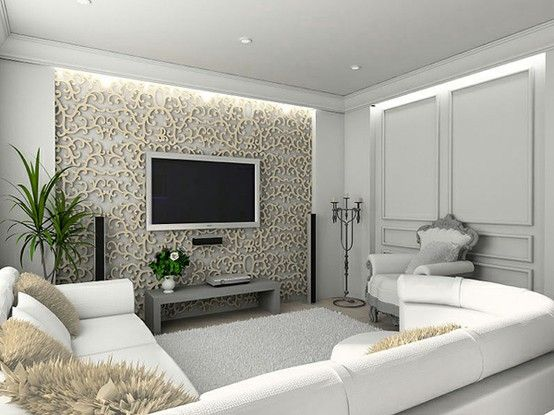 Pinterest Picks: Home Sweet Home Theater // Stunning use of tone-on-tone color palette, the backlit wall panels act to increase the acoustic performance, and that couch is perfect for stretching out on or for hosting a big viewing party!