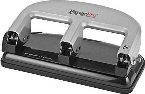 PaperPro inPRESS 40 Three-Hole Punch, Silver/Black (2240)
