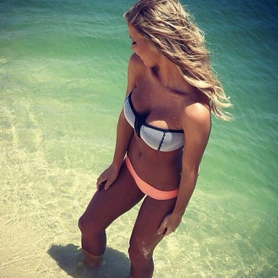 View from the top! @hannahpolites in the Dakota Superfly bikini  www.triangl.com