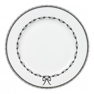 Тарелка обеденная Miss Blackbirdy Узор, черно-белый