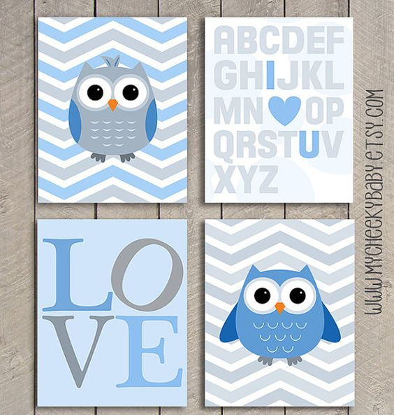 Baby art baby shower gifts and shower gifts on pinterest for Chambre bebe garcon