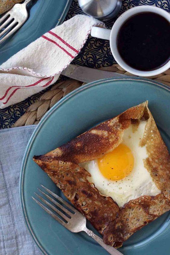HAM & GRUYERE BUCKWHEAT CREPE (GALETTE COMPLETE) ~~~ recipe gateway ...