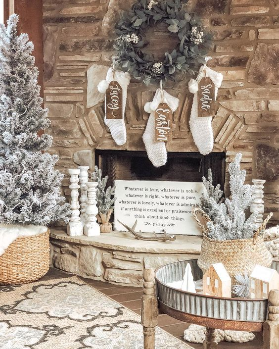 Tina Saltarelli Oddo On Instagram Happy Sunday Morning Y All Well The Back Porch Is Done Wel Chanukah Decor Christmas Fireplace Mantels Diy Holiday Decor