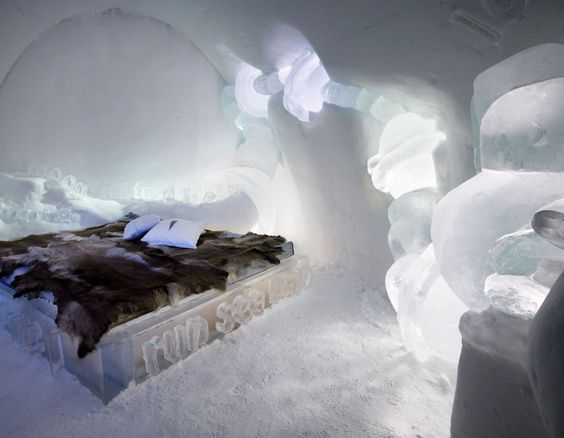 "Even though ""cold"" is not really my thing, I would love to stay in an ice hotel."