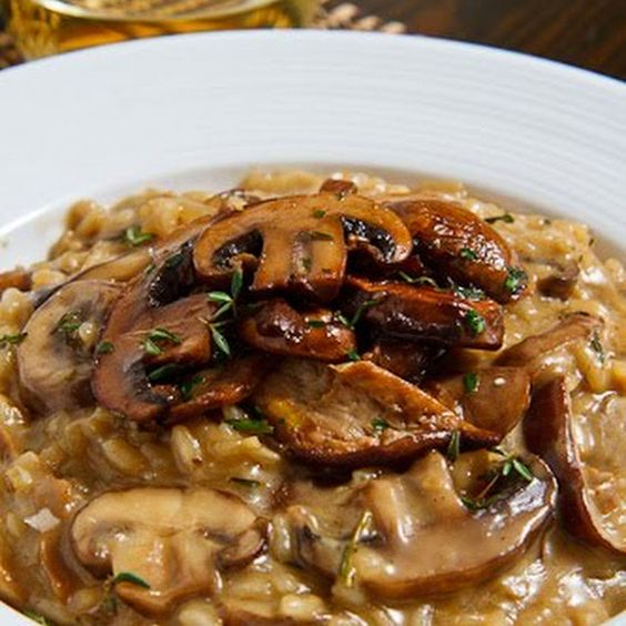 Mushroom Risotto Recipe Side Dishes with dried porcini mushr..