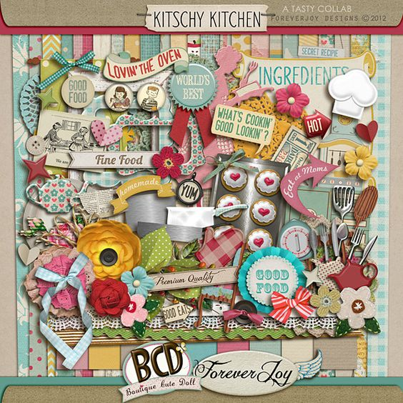 Kitschy Kitchen  a delicious Collab cooked up  by ForeverJoy Designs & Boutique Cute Doll