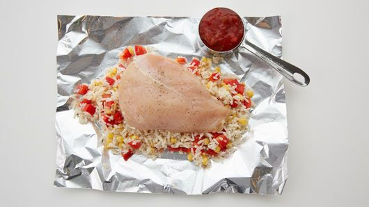 Salsa Chicken Foil Packs