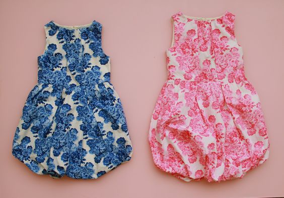 Adorable bubble dresses for flower girls by Crew Cuts.